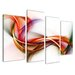 Urban Designs Colorful Stripes 4 Piece Graphic Art Wrapped on Canvas Set