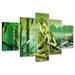 Urban Designs Buddha 5 Piece Photographic Print on Canvas Set