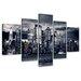 Urban Designs New York USA 5 Piece Photographic Print Wrapped on Canvas Set