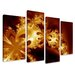 Urban Designs Fantasy 4 Piece Graphic Art Wrapped on Canvas Set