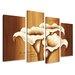 Urban Designs Flowers Cala 4 Piece Art Print Wrapped on Canvas Set