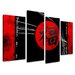 Urban Designs Chinese Signs 4 Piece Graphic Art Wrapped on Canvas Set