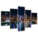 Urban Designs New York 5 Piece Photographic Print Wrapped on Canvas Set
