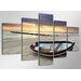 Urban Designs Beach 5 Piece Photographic Print Wrapped on Canvas Set