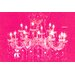 Fluorescent Palace Liquid Chandelier Graphic Art on Canvas in Pink