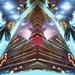 Fluorescent Palace Fashion Towers Graphic Art on Canvas
