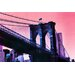 Fluorescent Palace Techno Transit Graphic Art on Canvas in Pink