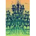Fluorescent Palace Tower of Light Yellow Graphic Art on Canvas