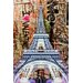 Fluorescent Palace Street Art in The Sky Graphic Art on Canvas in Pink