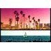 Fluorescent Palace Saltwater Sunday Graphic Art on Canvas