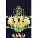 Fluorescent Palace Elegant Radiance Graphic Art on Canvas