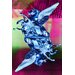 Fluorescent Palace Unicorn Universe Reverse Graphic Art on Canvas