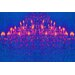 Fluorescent Palace Ballroom Blitz Graphic Art on Canvas in Blue