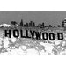 Fluorescent Palace Hollywoodland Graphic Art on Canvas in Black