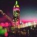 Fluorescent Palace Midnight City Graphic Art on Canvas