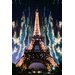 Fluorescent Palace Midnight in Paris Photographic Print on Canvas