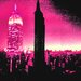 Fluorescent Palace I Am Ny Graphic Art on Canvas in Pink