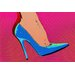 Fluorescent Palace Heel Toe Let's Go Graphic Art on Canvas