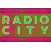 Fluorescent Palace Radio Neon Mix Typography on Canvas in Pink
