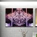Fluorescent Palace Goddess Glamour Reverse Graphic Art on Canvas