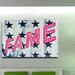 Fluorescent Palace Be A Star Typography on Canvas
