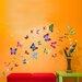 Walplus Swarovski with Colourful Butterflies Wall Sticker