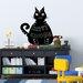 Walplus Blackboard Cat Shaped Wall Sticker