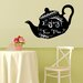 Walplus Blackboard Tea Pot Shaped Wall Sticker