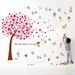 Walplus Pink Tree and Alphabets Wall Sticker