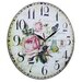 Obique 34cm Flowers and Butterfly Wall Clock