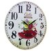 Obique 34cm Flowers and Coffee Cup Wall Clock