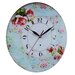 Obique Pink Roses 34cm Wall Clock