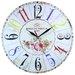 Obique 34cm Roses de Parfum Paris Wall Clock