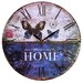 Obique 34cm Home is Where Your Story Begins Butterfly Wall Clock