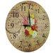 Obique 28cm Chrysanthemum Bouquet Wall Clock
