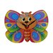 Obique Butterfly Wall Clock
