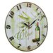 Obique 34cm Olives and Italy Wall Clock