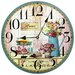 Obique 34cm Cupcakes and Flowers Wall Clock