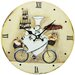 Obique 34cm Chef on Bicycle Wall Clock