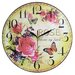 Obique 34cm Welcome My Friend Roses Wall Clock