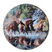 Obique 28cm Wild Horses and Waterfall Wall Clock
