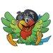 Obique Parrot Wall Clock
