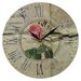 Obique Pink Rose 28cm Wall Clock
