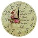 Obique 28cm Flowers and Friendship Inspirational Saying Wall Clock