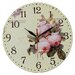 Obique 28cm Pale Blush Pink Peony Wall Clock