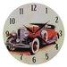 Obique Nostalgic Retro 28cm Doozy Red Car Wall Clock