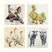 AnnabelLangrish Farmyard by Annabel Langrish 4 Piece Graphic Art Set