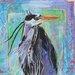 AnnabelLangrish Heron by Annabel Langrish Graphic Art