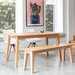 OutAndOutOriginal Sebastian Dining Table and 2 Chairs and Bench