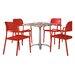 Best Freizeitmöbel Locarno Dining Table and 4 Chair